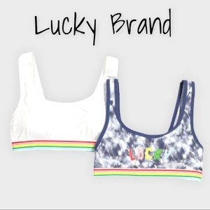 Lucky Brand Plus Size Pride Logo Lounge Bras. 2 Pack. Size 1X